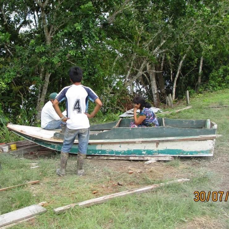 REPAIRING THE BOAT